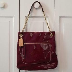 Dark cherry red Coach purse